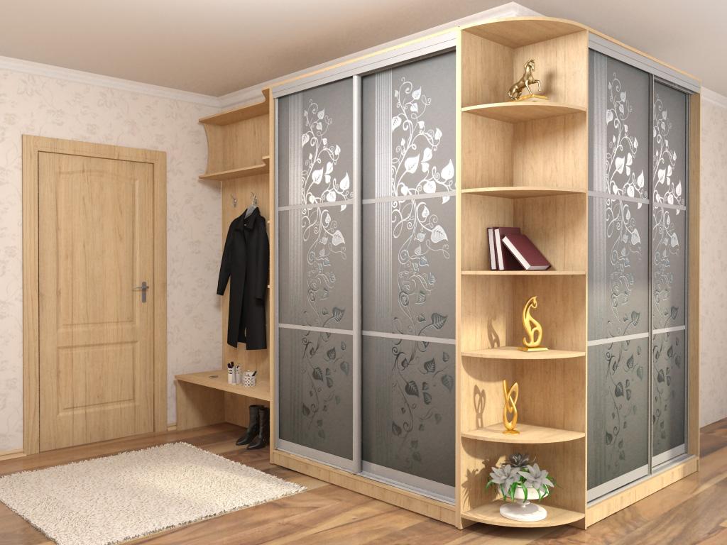 Встроенные шкафы купе в прихожую фото дизайн идеи