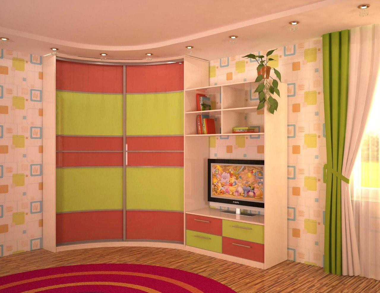 Шкаф-купе в детскую комнату: 75 фото идей дизайна.
