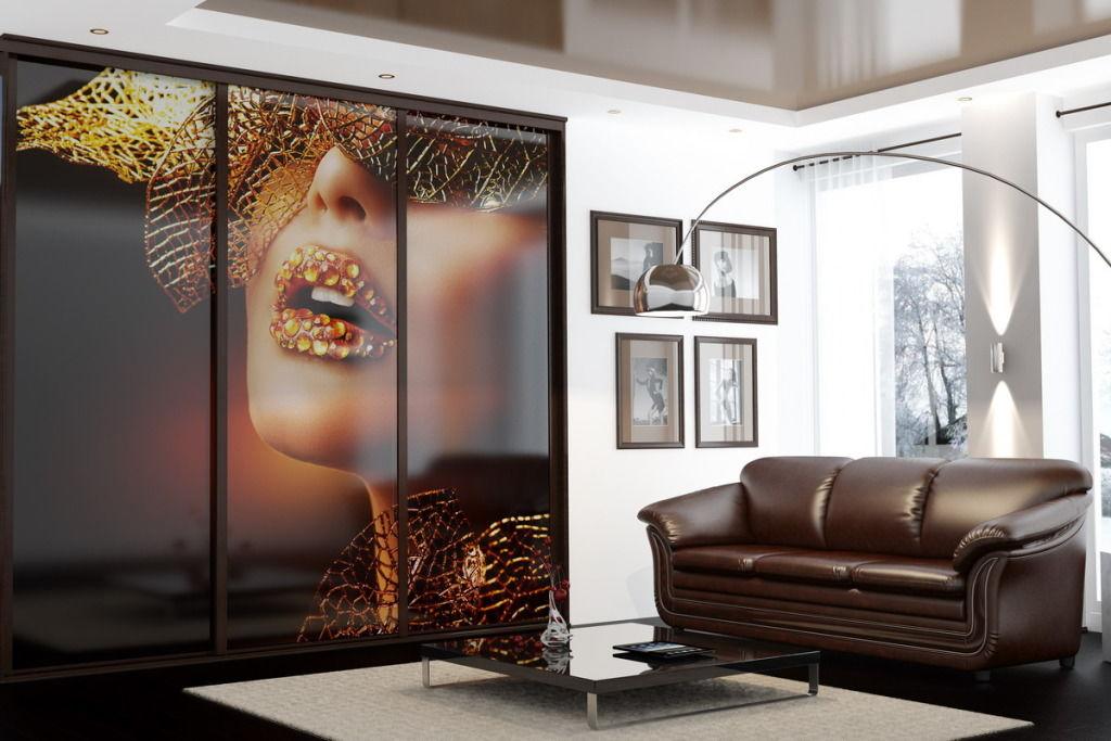 Лучшие интерьеры гостиной с фотопечатью фото